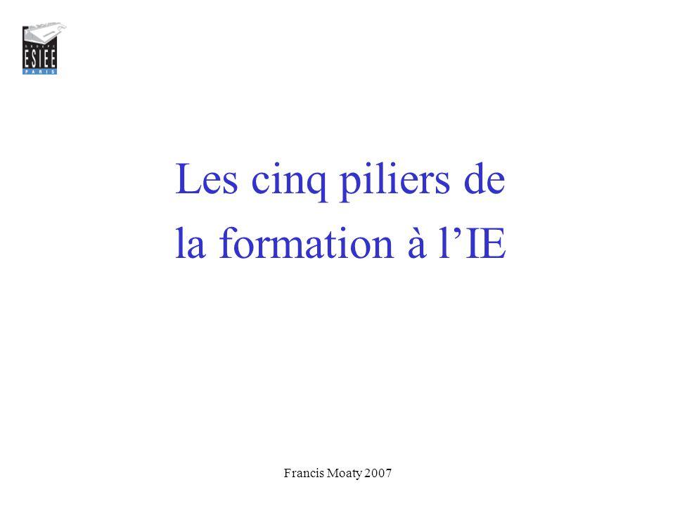 Les cinq piliers de la formation à l'IE Francis Moaty 2007