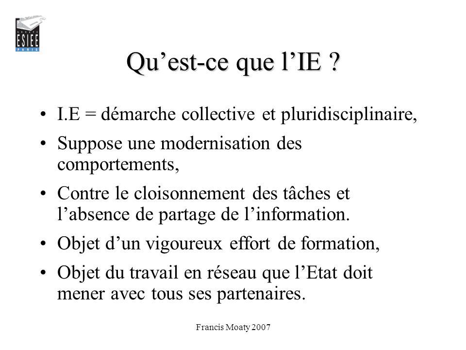 Qu'est-ce que l'IE I.E = démarche collective et pluridisciplinaire,