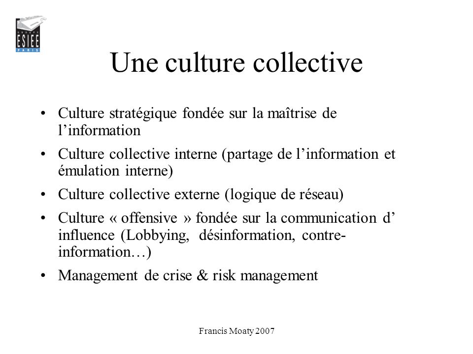 Une culture collective
