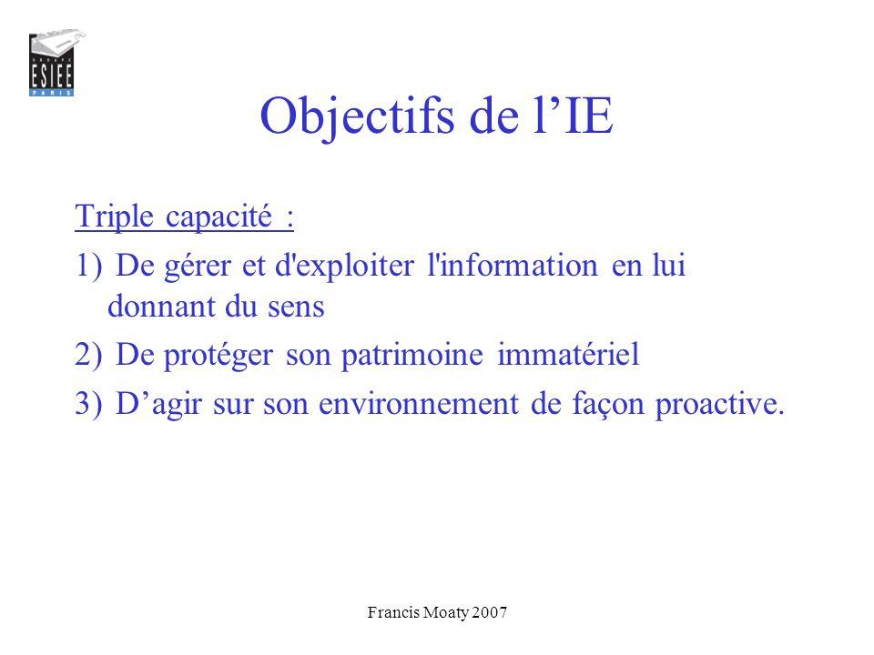 Objectifs de l'IE Triple capacité :