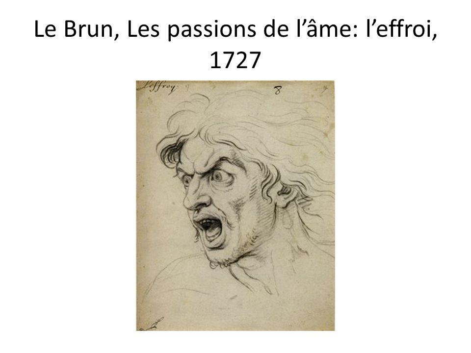 Le Brun, Les passions de l'âme: l'effroi, 1727