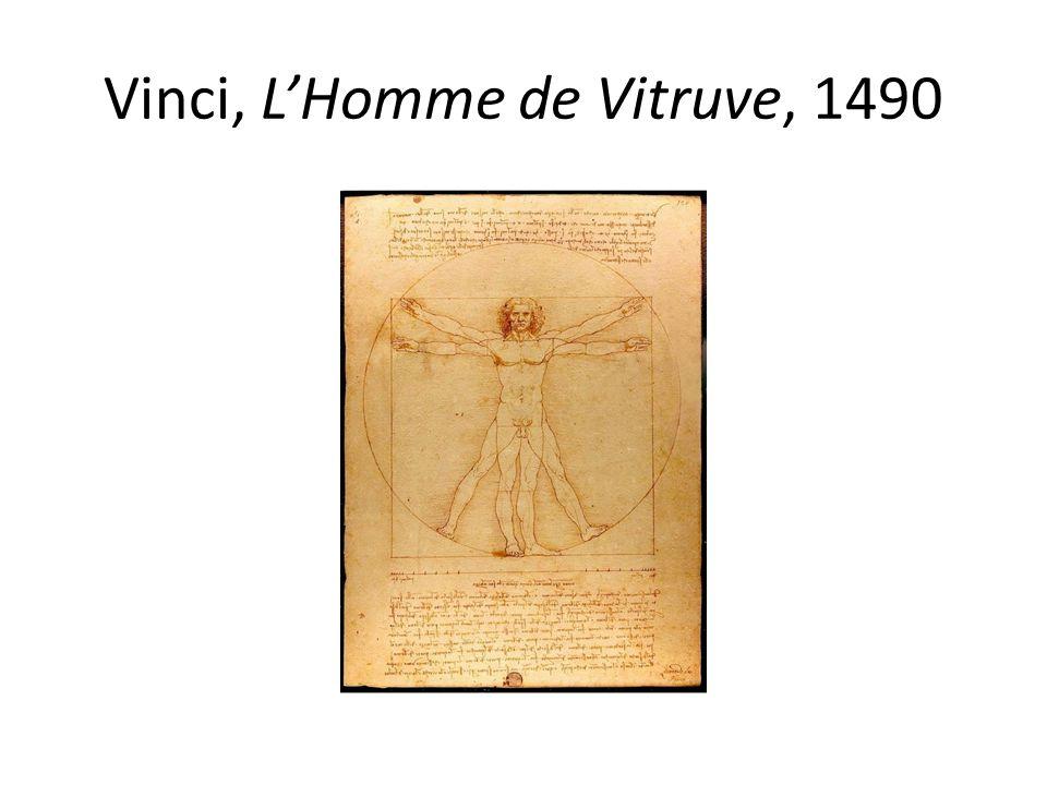 Vinci, L'Homme de Vitruve, 1490
