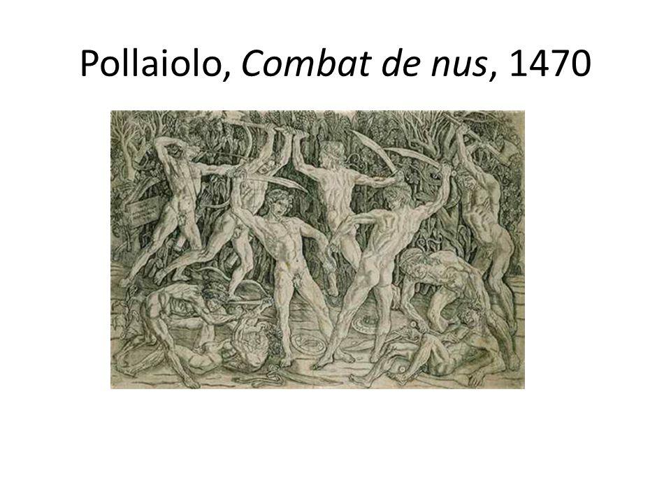 Pollaiolo, Combat de nus, 1470