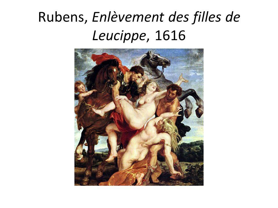 Rubens, Enlèvement des filles de Leucippe, 1616