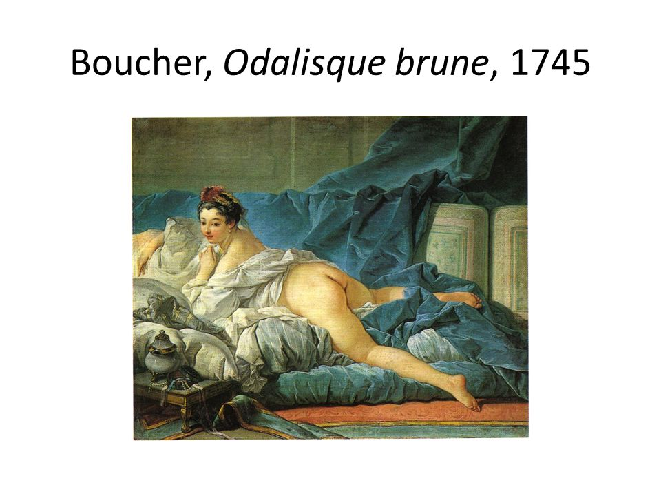 Boucher, Odalisque brune, 1745