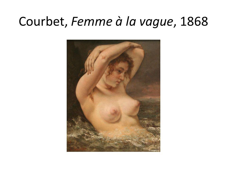 Courbet, Femme à la vague, 1868
