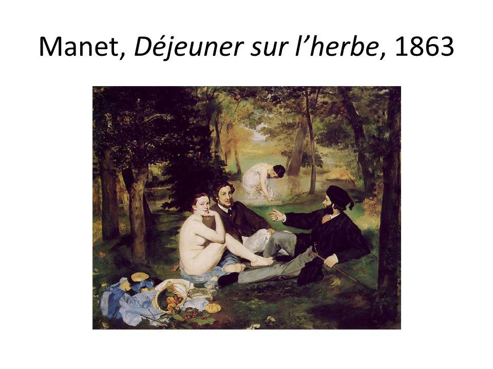 Manet, Déjeuner sur l'herbe, 1863