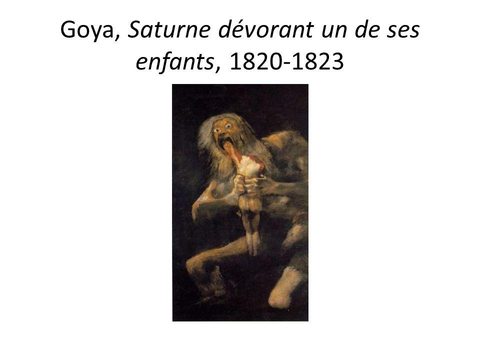Goya, Saturne dévorant un de ses enfants, 1820-1823