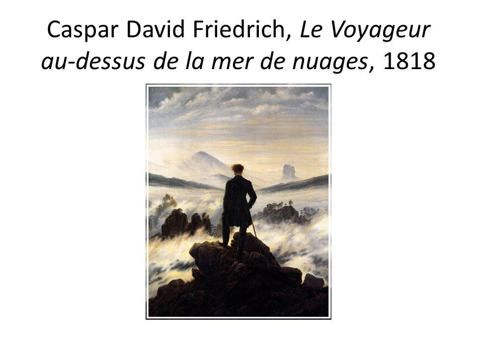 Caspar David Friedrich, Le Voyageur au-dessus de la mer de nuages, 1818