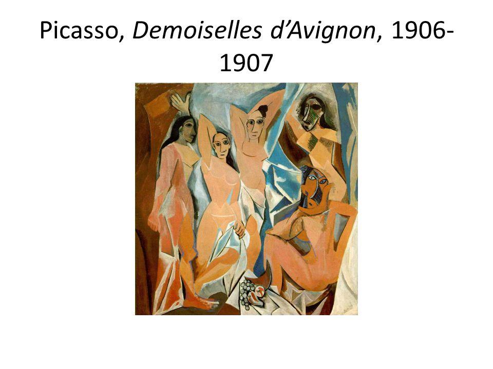 Picasso, Demoiselles d'Avignon, 1906-1907