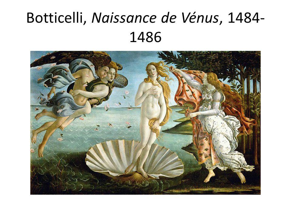 Botticelli, Naissance de Vénus, 1484-1486