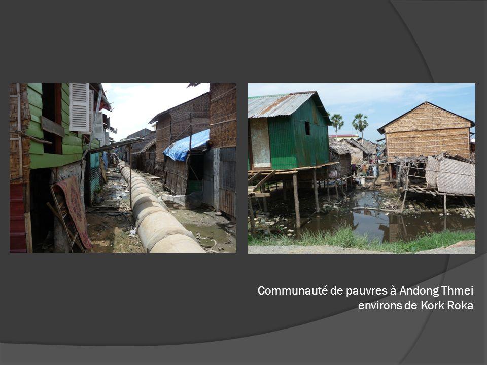Communauté de pauvres à Andong Thmei environs de Kork Roka
