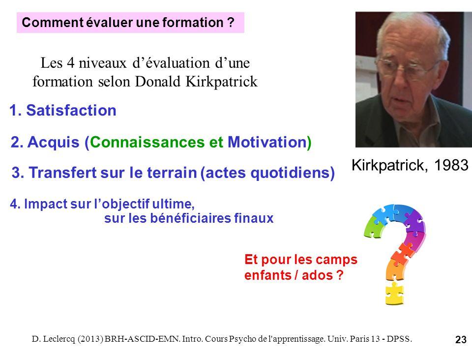Les 4 niveaux d'évaluation d'une formation selon Donald Kirkpatrick
