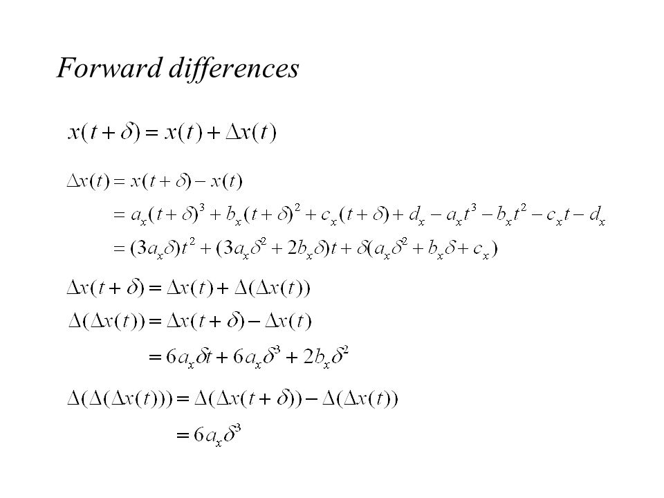 Forward differences