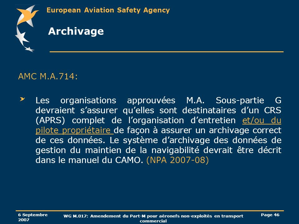 Archivage AMC M.A.714: