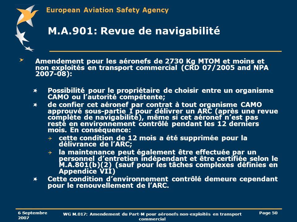 M.A.901: Revue de navigabilité