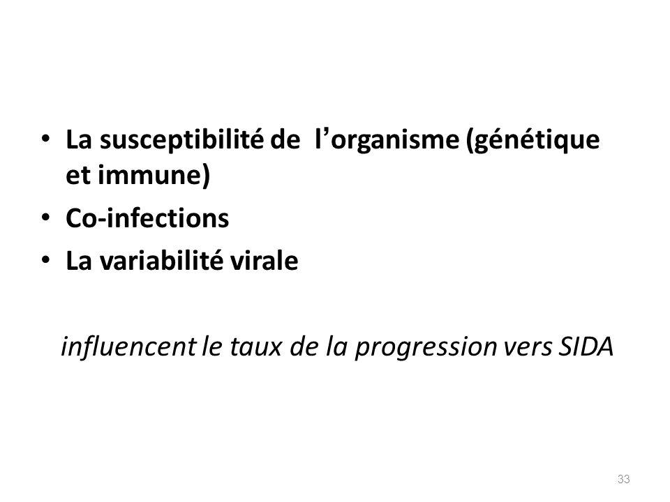 La susceptibilité de l'organisme (génétique et immune)