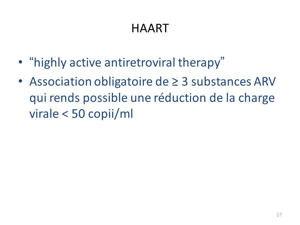 HAART highly active antiretroviral therapy