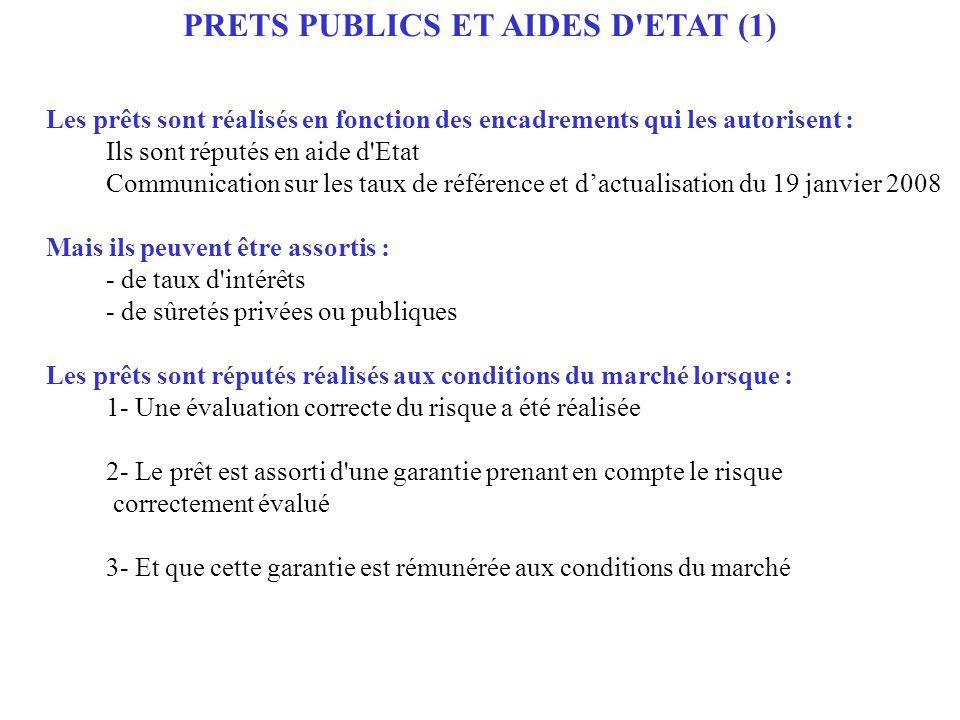 PRETS PUBLICS ET AIDES D ETAT (1)