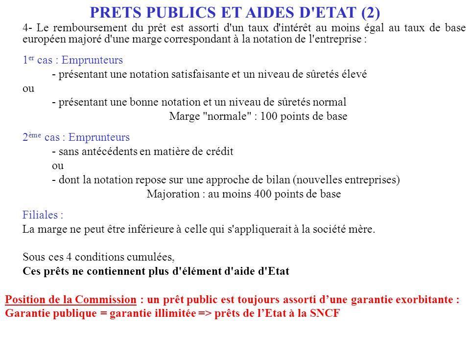 PRETS PUBLICS ET AIDES D ETAT (2)