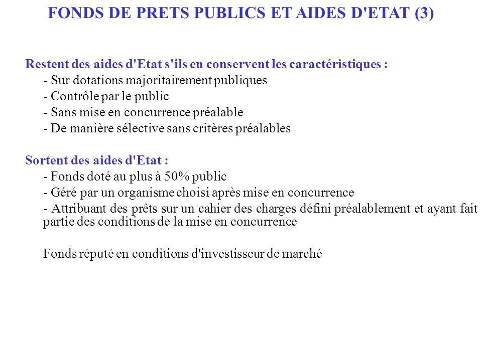 FONDS DE PRETS PUBLICS ET AIDES D ETAT (3)