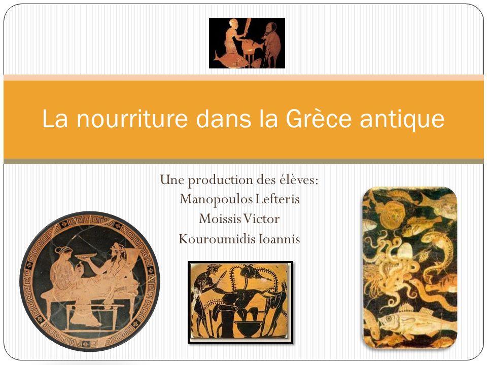 La nourriture dans la Grèce antique