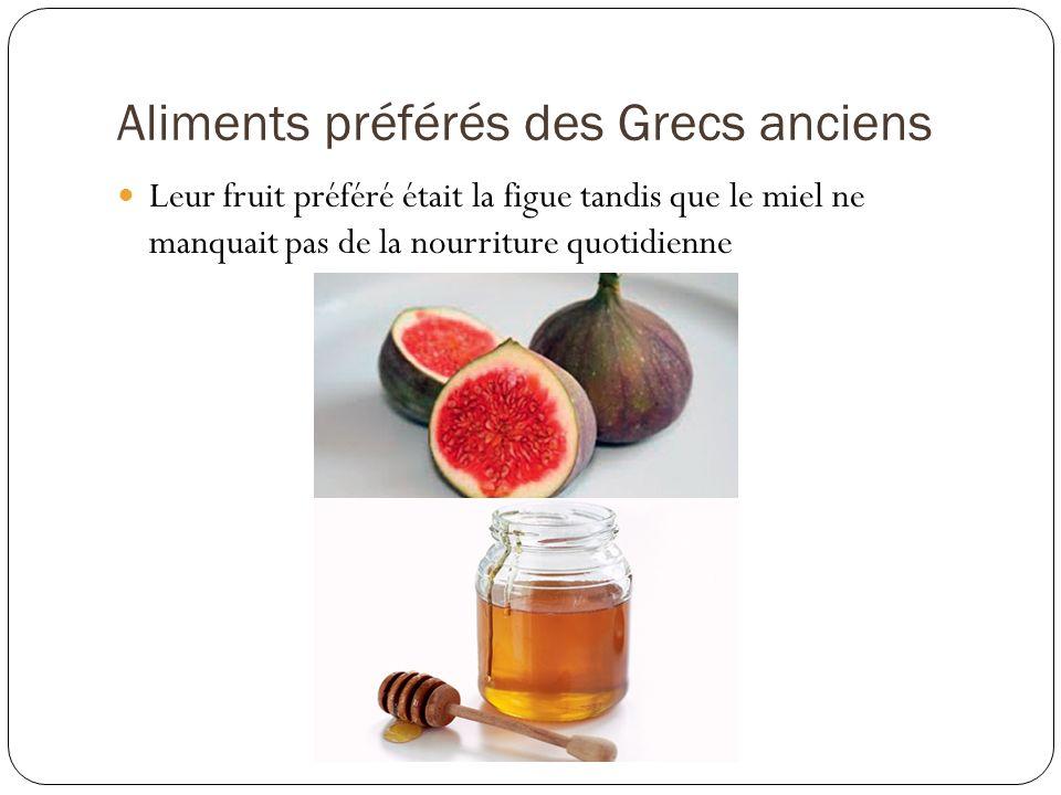 Aliments préférés des Grecs anciens