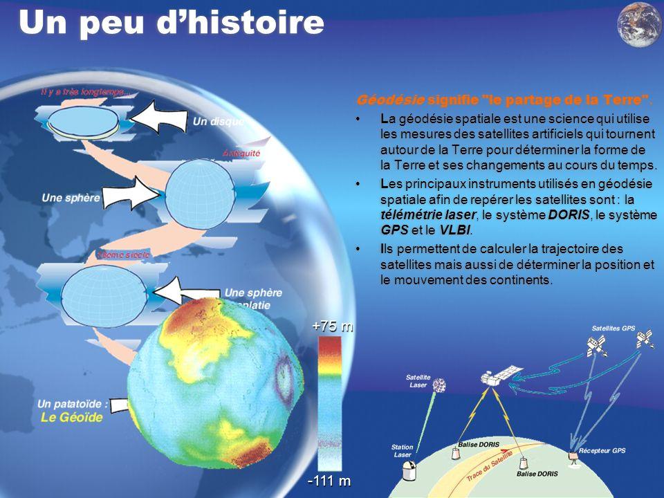 Un peu d'histoire Géodésie signifie le partage de la Terre .