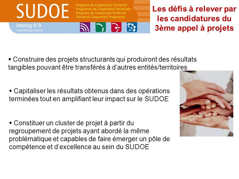 Les défis à relever par les candidatures du 3ème appel à projets