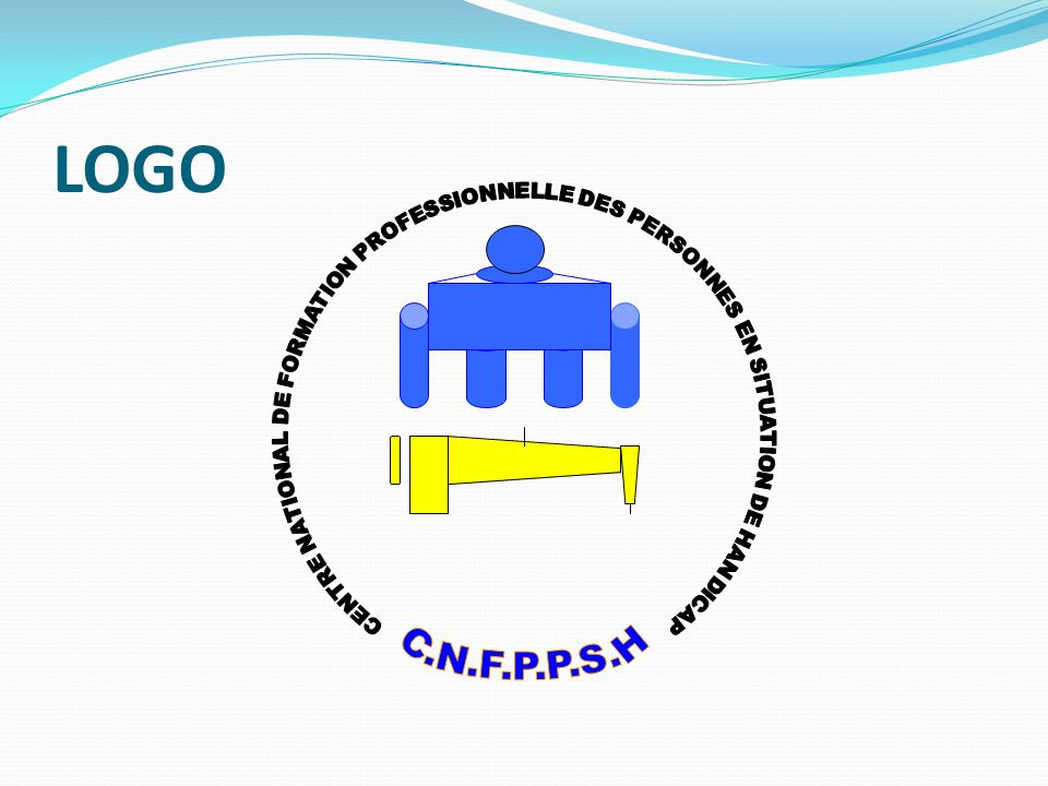 LOGO CENTRE NATIONAL DE FORMATION PROFESSIONNELLE DES PERSONNES EN SITUATION DE HANDICAP.