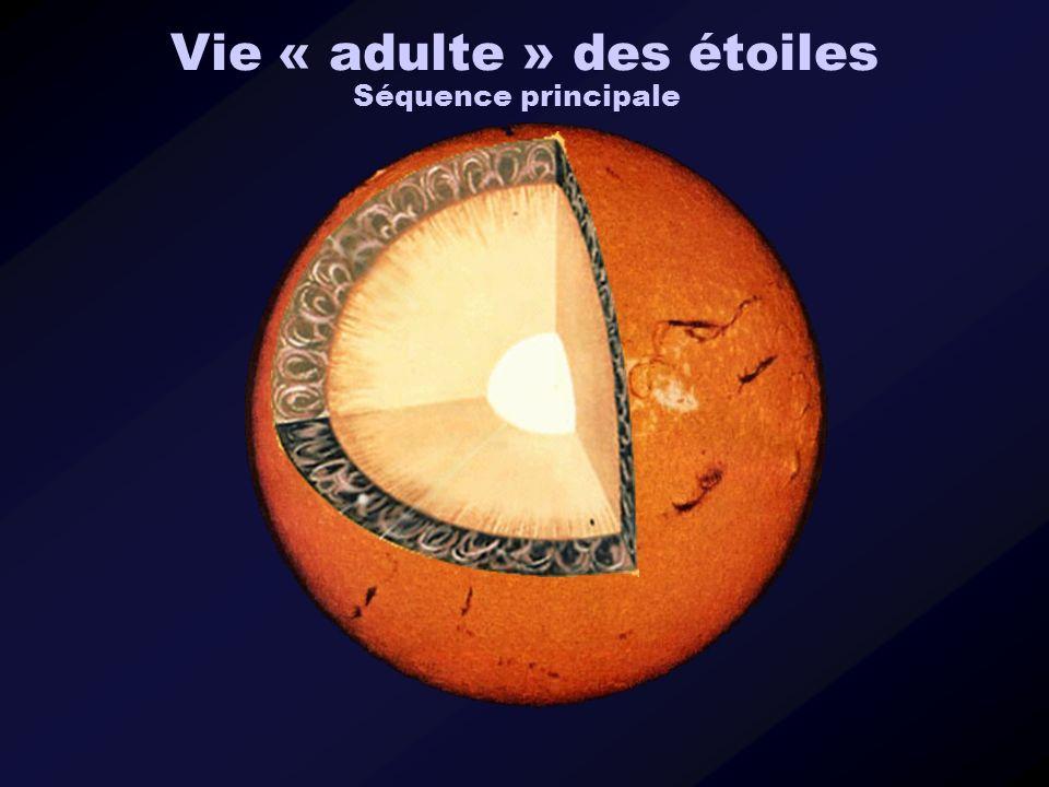 Vie « adulte » des étoiles