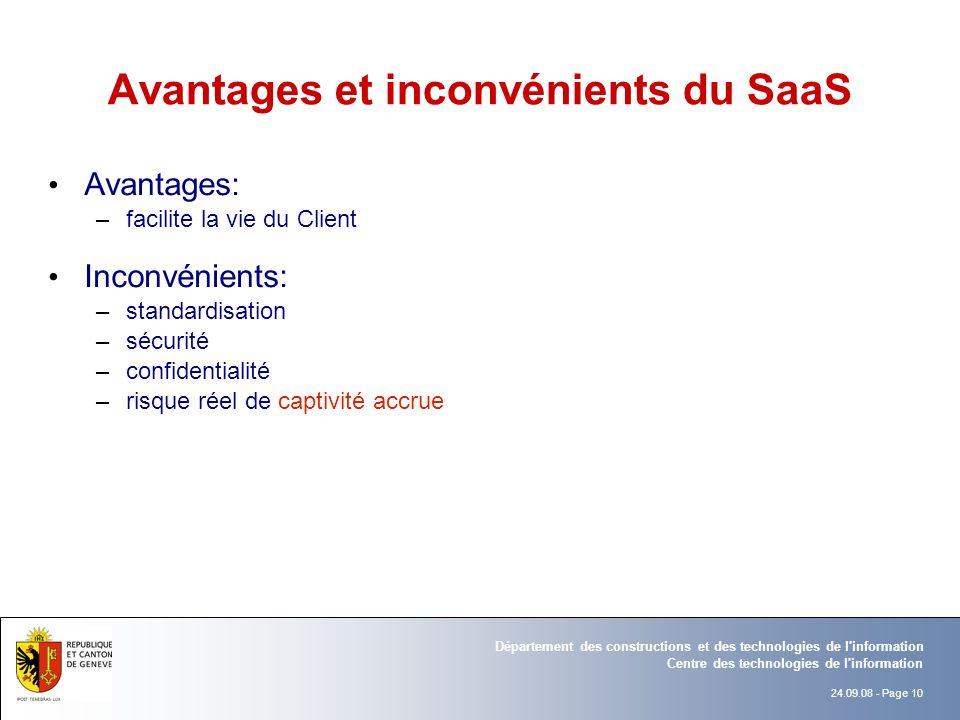 Avantages et inconvénients du SaaS