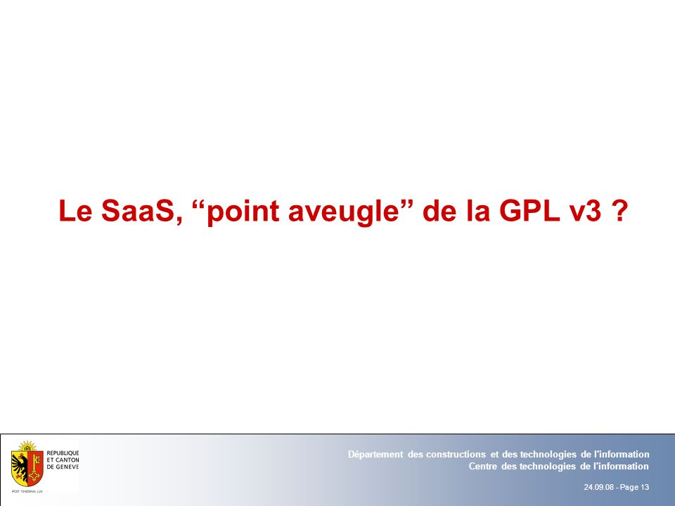 Le SaaS, point aveugle de la GPL v3