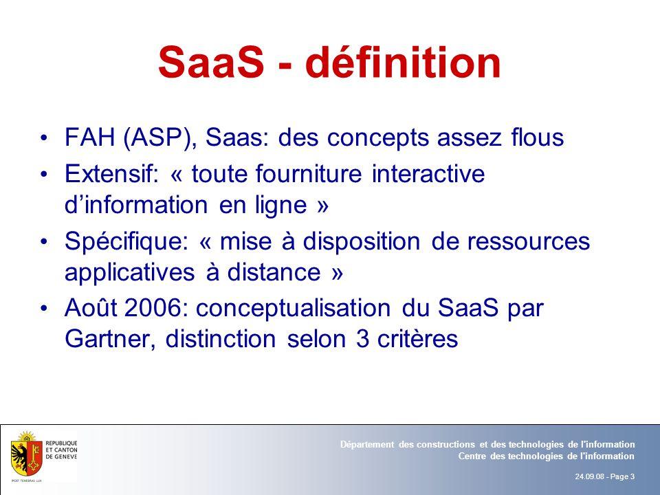 SaaS - définition FAH (ASP), Saas: des concepts assez flous