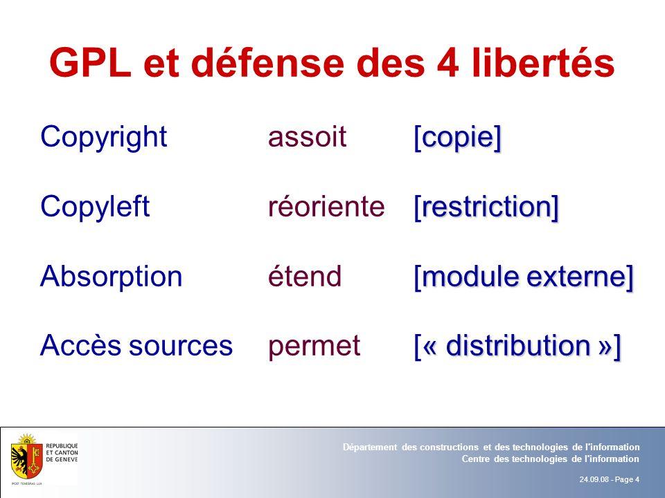 GPL et défense des 4 libertés