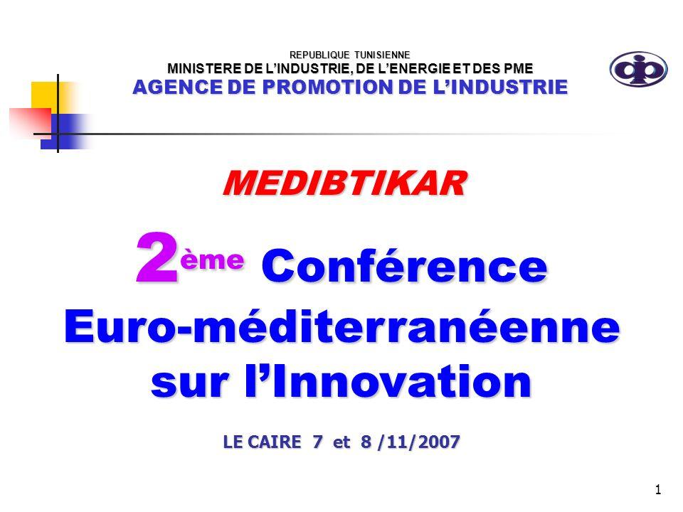 2ème Conférence Euro-méditerranéenne sur l'Innovation MEDIBTIKAR