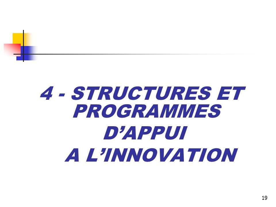 4 - STRUCTURES ET PROGRAMMES