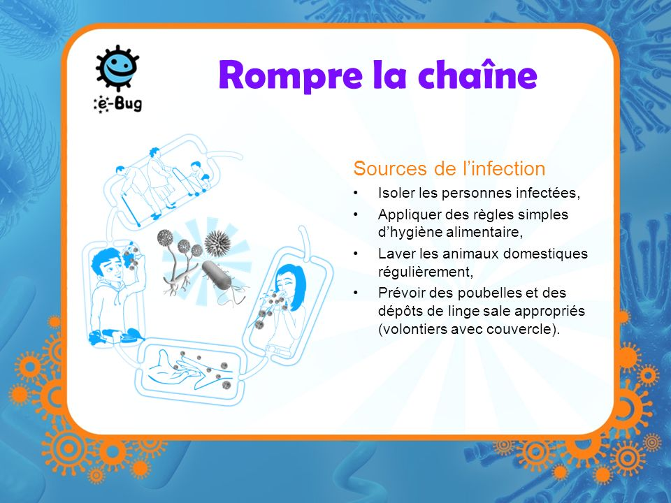 Rompre la chaîne Sources de l'infection