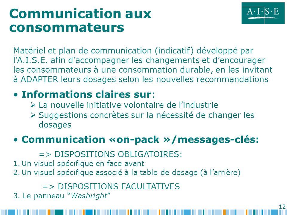 Communication aux consommateurs