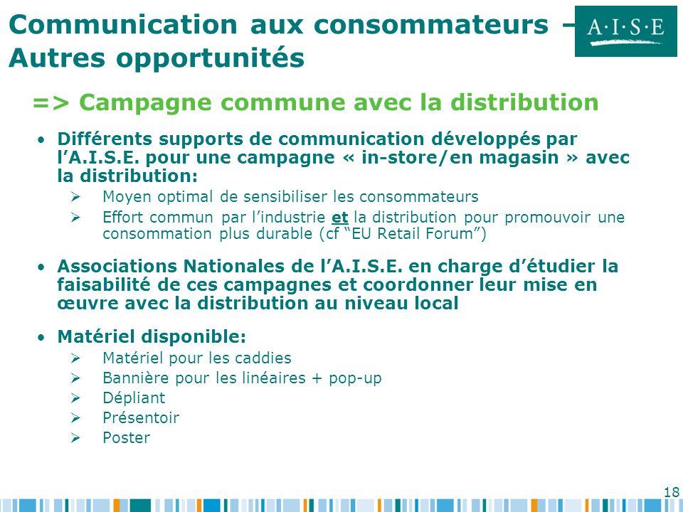 => Campagne commune avec la distribution