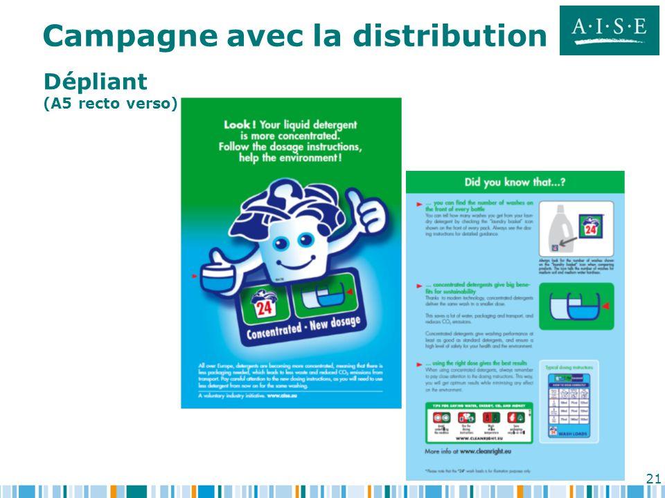Campagne avec la distribution