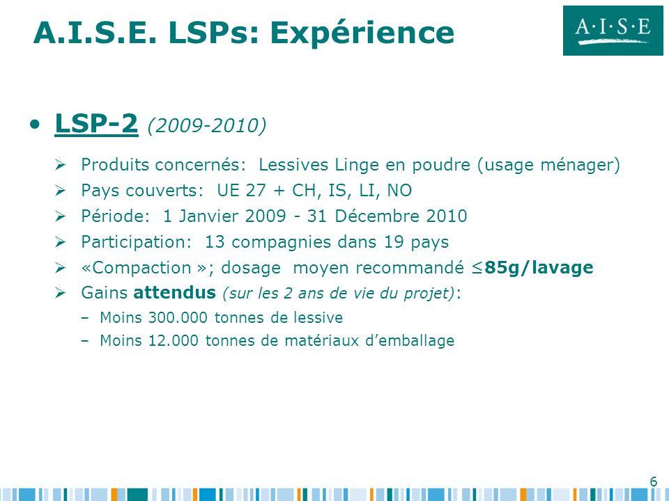 A.I.S.E. LSPs: Expérience LSP-2 (2009-2010)