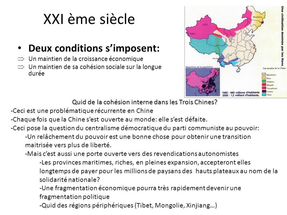 Quid de la cohésion interne dans les Trois Chines
