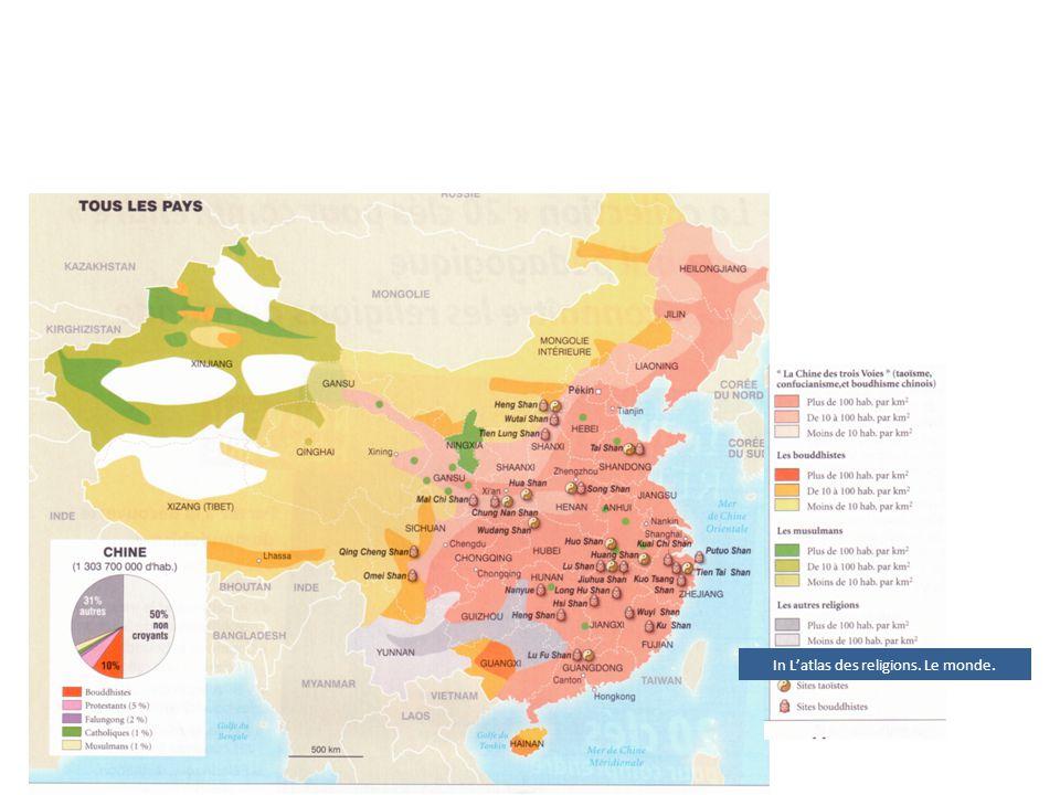 In L'atlas des religions. Le monde.