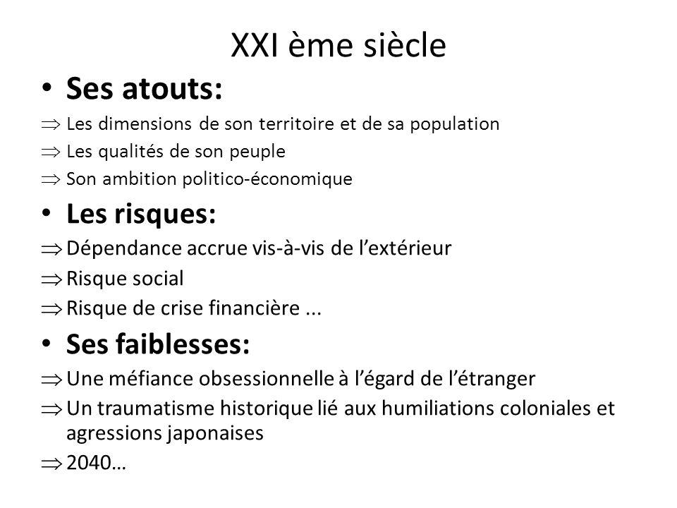 XXI ème siècle Ses atouts: Les risques: Ses faiblesses: