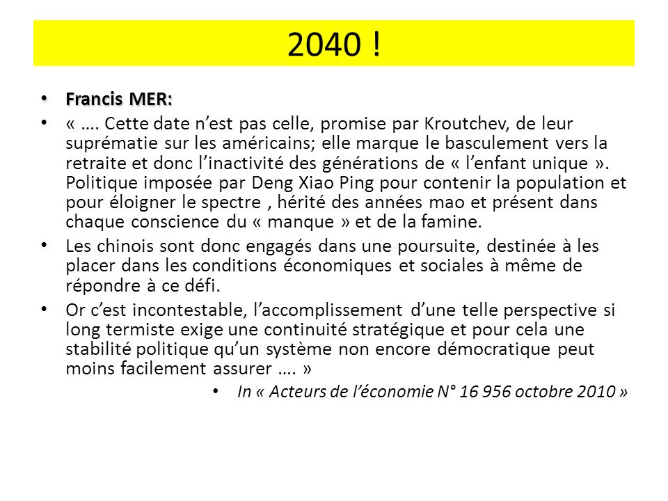 2040 ! Francis MER: