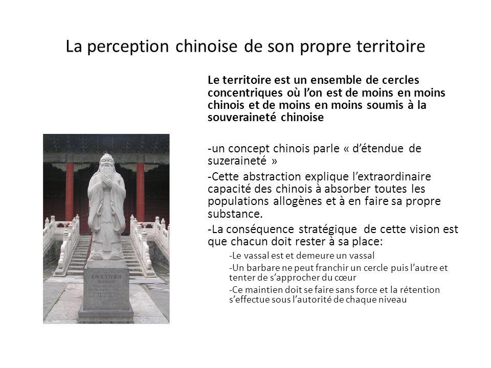 La perception chinoise de son propre territoire
