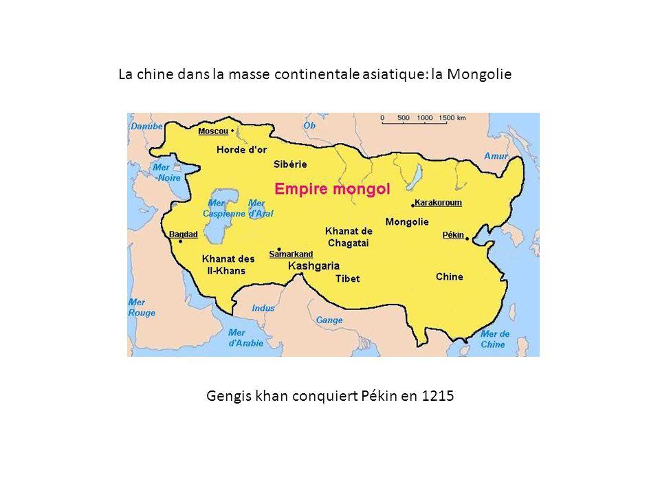 Gengis khan conquiert Pékin en 1215