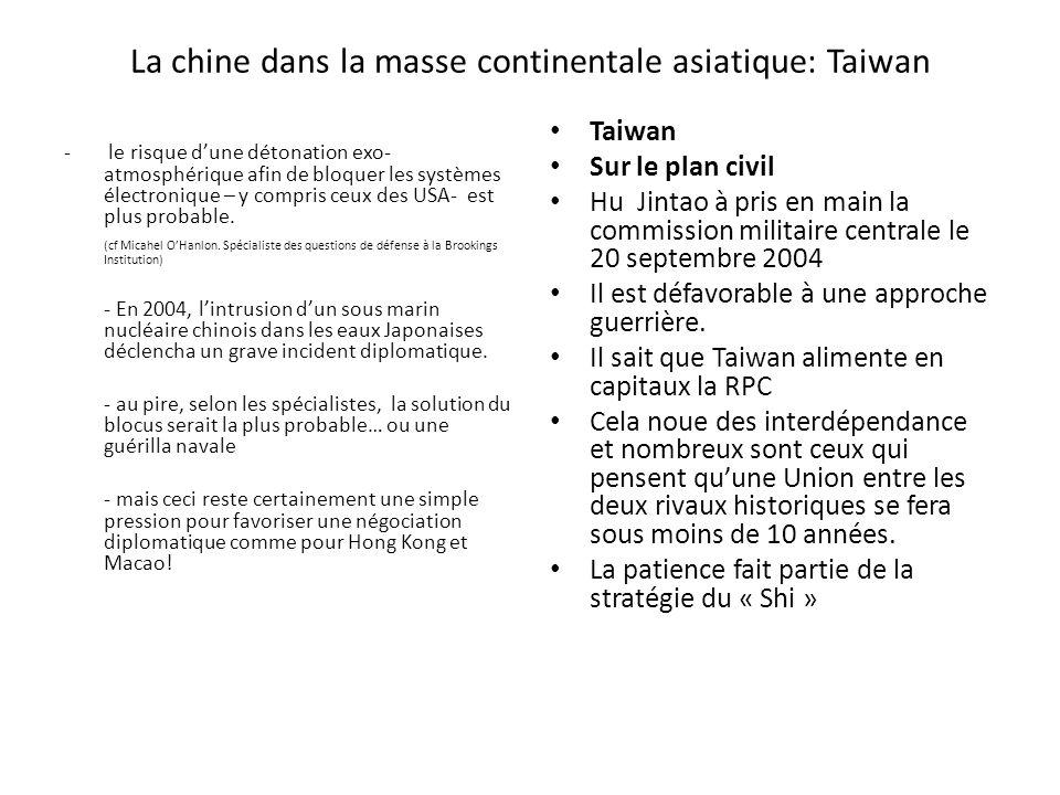 La chine dans la masse continentale asiatique: Taiwan