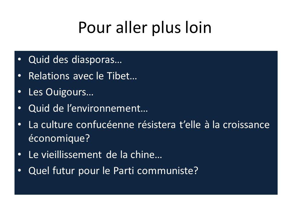 Pour aller plus loin Quid des diasporas… Relations avec le Tibet…